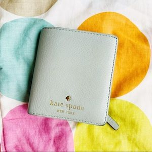 Mint Small Kate Spade Cobble Hill Stacy Wallet
